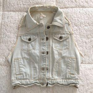 Light wash LF Jean vest, size S